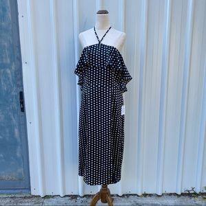 Calli. Ruffle Midi Dress - SOME FLAW